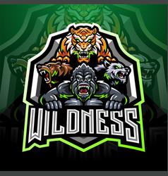 Wild animal esport mascot logo vector