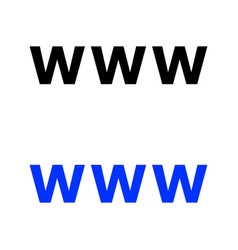 World wide web icon vector