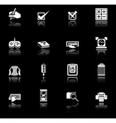applications icon set vector image