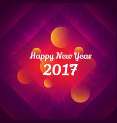 happy new year 2017 celebration design vector image vector image