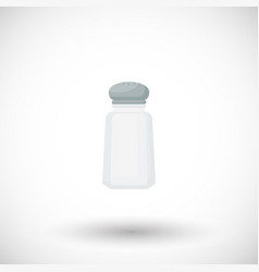 salt shaker flat icon vector image
