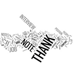 Thank you notes an integral part of your career vector
