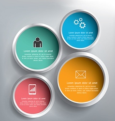 Abstract 3D circle infographics design vector image vector image