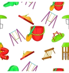 Entertainment for kid pattern cartoon style vector image