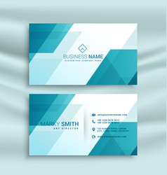 modern blue and white business card design vector image