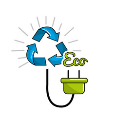 reduce power cable icon vector image vector image