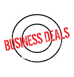 Business deals rubber stamp vector