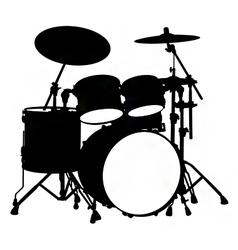 Drum kit silhouette vector