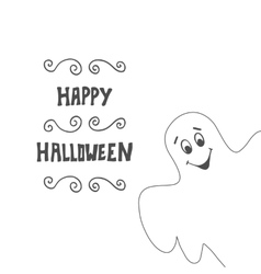 Halloween card background with Ghost vector image
