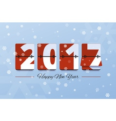 Happy New Year 2017 scoreboard vector image vector image