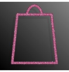 Pink Sequins Shopping Bag Glitter Sale offer vector image vector image