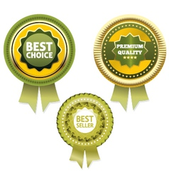 Premium Quality and Best Choice Label Bestseller vector image vector image