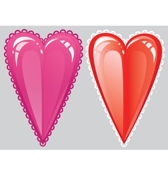 Romantic heart red vector image vector image