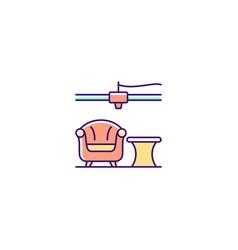 3d printed furniture design rgb color icon vector
