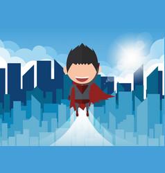 A happy face superhero businessman a con vector