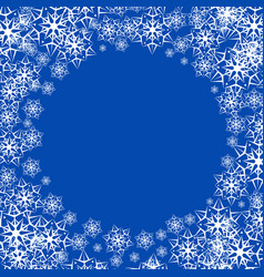 a snowy winter background vector image