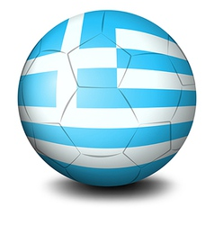A soccer ball with the flag of Greece vector image