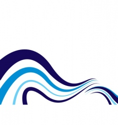 abstract blue wave vector image