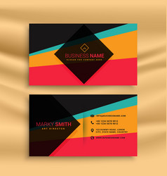 Abstract business card design with funky colors vector