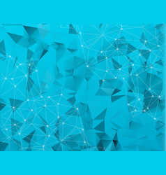 abstract low poly blue technology background vector image