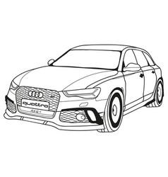 Audi rs6 abt vector