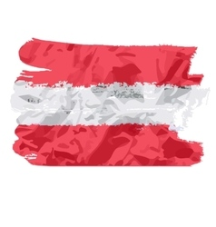Austrian flag painted by brush hand paints Art vector image