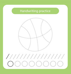 Backetball ball kids toys theme handwriting vector