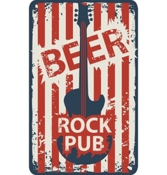 Banner for rock pub with an electric guitar vector