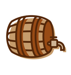 beer barrel logo isolated on white background vector image