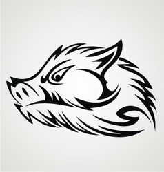 Boar Head Tattoo vector image
