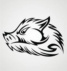 Boar Head Tattoo vector