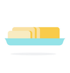 butter in a dish vector image