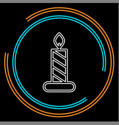 candle icon logo element vector image