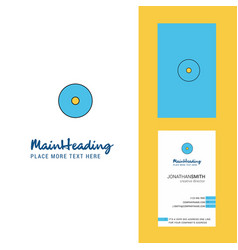 cd creative logo and business card vertical design vector image