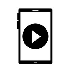 cellphone video player on white background vector image