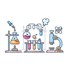 Chemical scientific experiment vector
