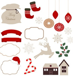 Christmas icons and vector image
