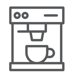 coffee maker line icon drink and espresso vector image