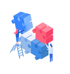 colleagues coworking team working isometric vector image