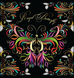 Colorful vintage beautiful butterflies seamless vector