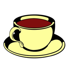 cup of tea icon cartoon vector image