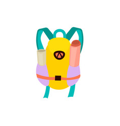 cute cartoon tourist backpack vector image