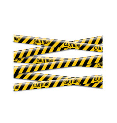 Danger ribbons isolated white background vector
