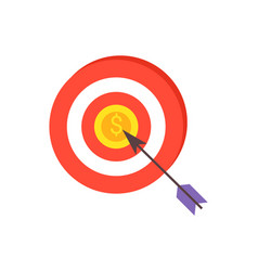 darts game arrow and coin vector image
