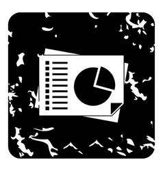 Diagram icon grunge style vector