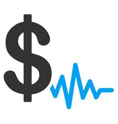 dollar signal flat icon vector image