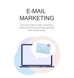 E-mail marketing concept flat background with vector