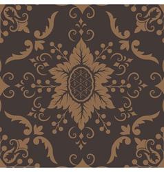 Elegant damask floral pattern vector