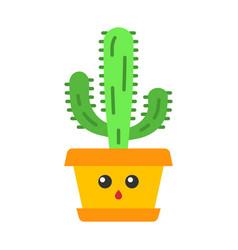 Elephant cactus flat design long shadow color icon vector