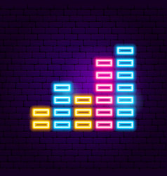 equalizer neon sign vector image